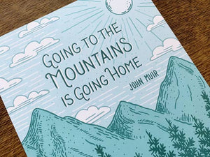 John Muir Mountain Art Print by Noteworthy Paper & Press