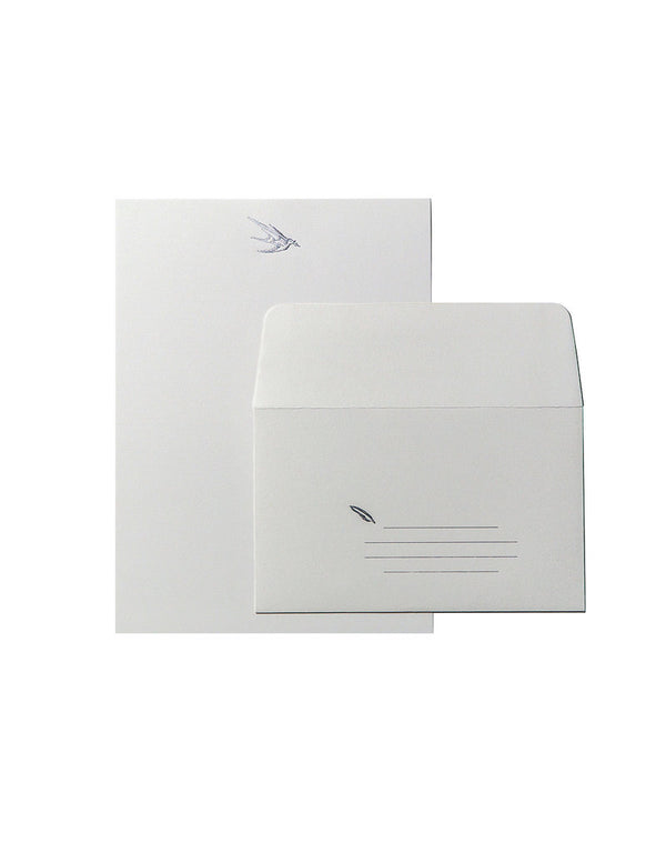 Bird with Pen Stationery Set
