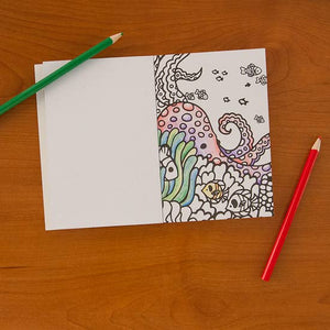 Ocean Life Pocket Coloring Book