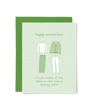 Matching Outfits Anniversary Card by Little Goat Paper