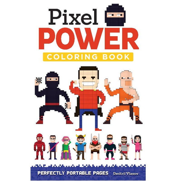 Pixel Power Pocket Coloring Book