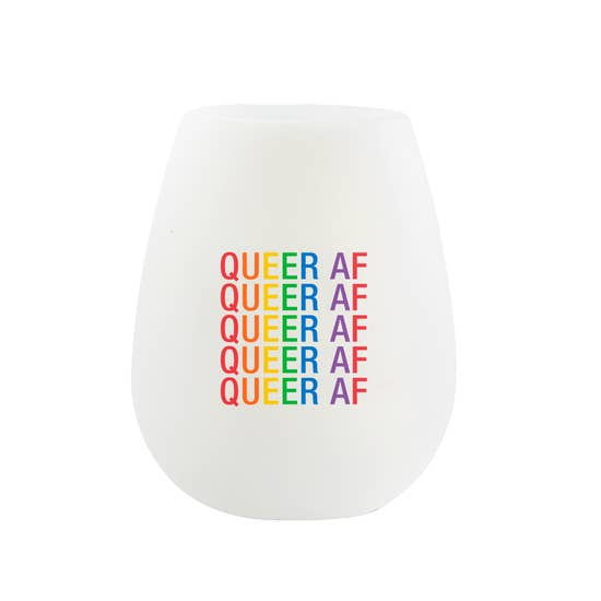 Queer AF Silicone Wine Cup