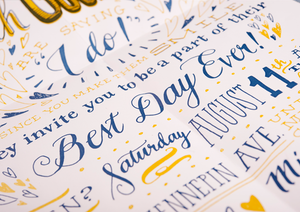 Best Day Ever Blush and Gold Poster