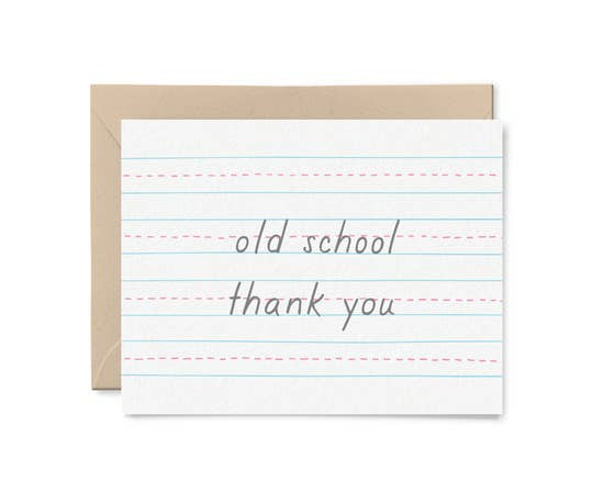 Old School Thank You Card by Little Goat Paper