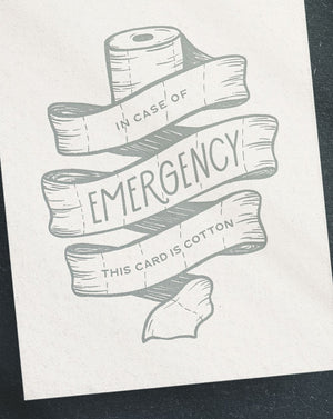 In case of emergency card by Paper & Honey
