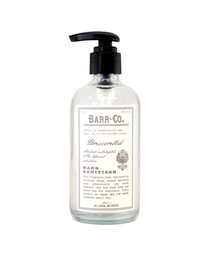 UNSCENTED 8 OZ HAND SANITIZER - BARR - CO.