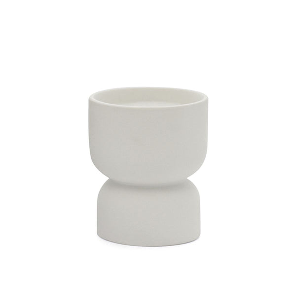WHITE MATTE HOURGLASS CANDLE - Tobacco Flower