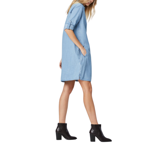 Mavi Lara Tencel Light Denim Shirt Dress | AT Fashion