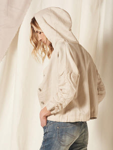 NILE Linen Mix Jacket with Drawstring Hood