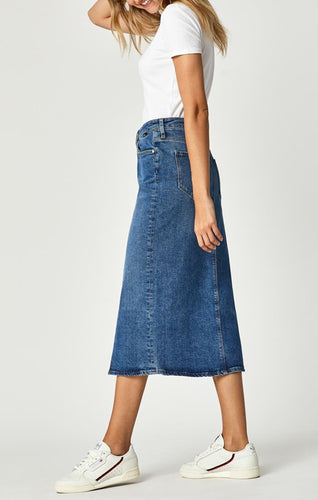 MAVI Midi Denim Pencil Skirt| | atfashion.shop