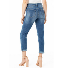 Liverpool Marley Girlfriend Distressed Jean | atfashion.shop