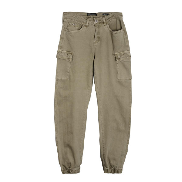 FDJ Embellished Cargo Pocket Joggers atfashion.shop