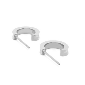 BRASS & UNITY Mini Unity Hoops Silver