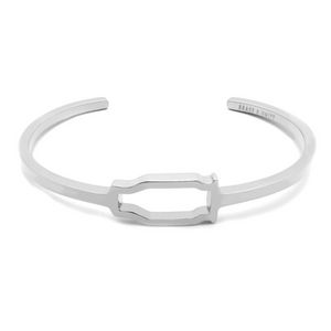 BRASS & UNITY Hollow Point Cuff Silver | atfashion.shop