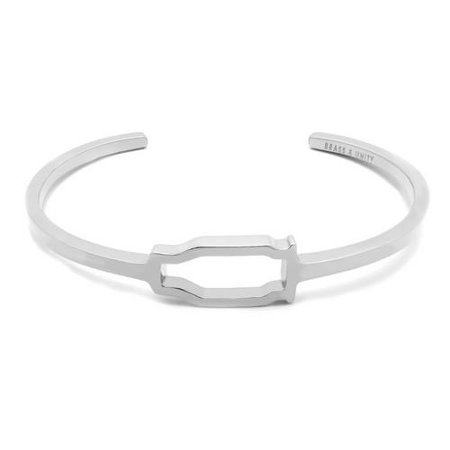 BRASS & UNITY Hollow Point Cuff Silver (L/M)