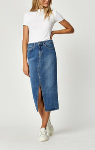 MAVI Midi Denim Pencil Skirt | atfashion.shop