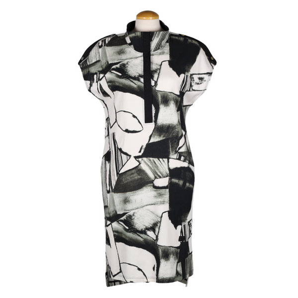 NAYA Blackened Khaki Print Dress | atfashion.shop