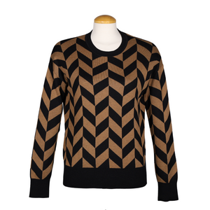 IN WEAR Two-Tone Patterned Sweater | atfashion.shop