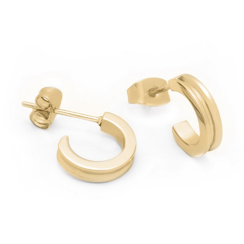BRASS & UNITY Mini Unity Hoop Gold | atfashion.shop