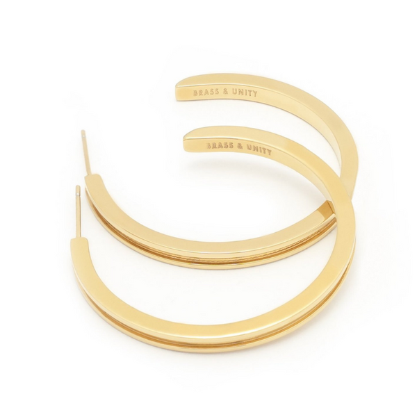 BRASS & UNITY Unity Hoops Gold