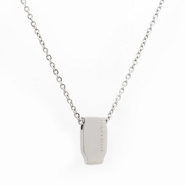 BRASS & UNITY Mini 2D Necklace Silver | atfashion.shop