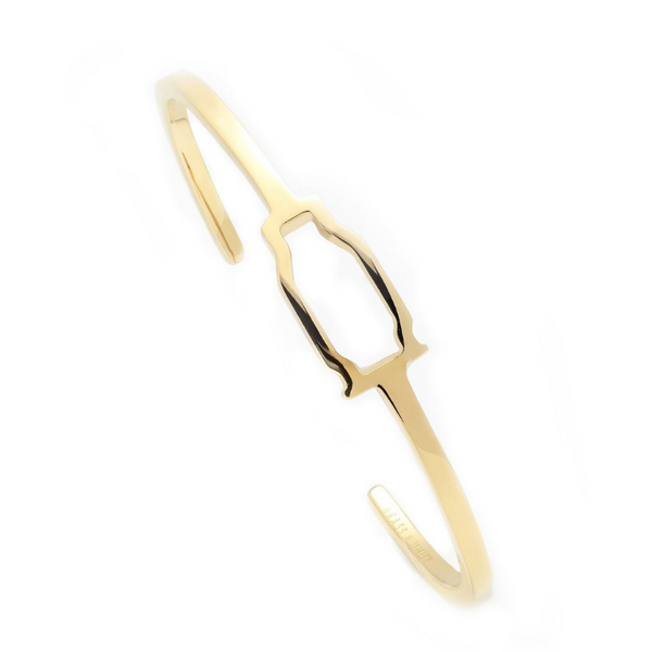 BRASS & UNITY Hollow Point Cuff Gold | AT Fashion