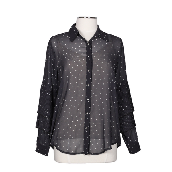 PERUZZI Sheer Polka Dot Blouse | atfashion.shop