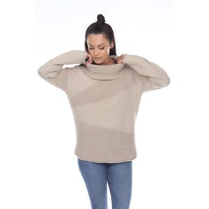 NEON BUDDHA Slouchy Turtleneck Cotton Pullover