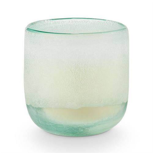 ILLUME Luxury Scented Sea Salt Candle in Ombre Effect Glass Vessel