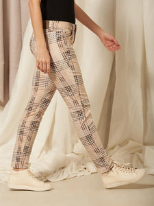NILE Ankle Pant in Crinkle Plaid