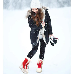 COZY Casual/Everyday Winter Carnival Snow Boots Premium Leather - FREE SHIPPING
