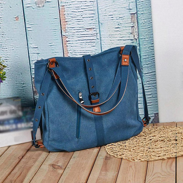 Purse Handbag Canvas Backpack-Shoulder Bag with Extra Large Capacity - FREE SHIPPING