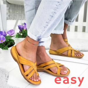 EASY Comfy Leather Flat Sandal