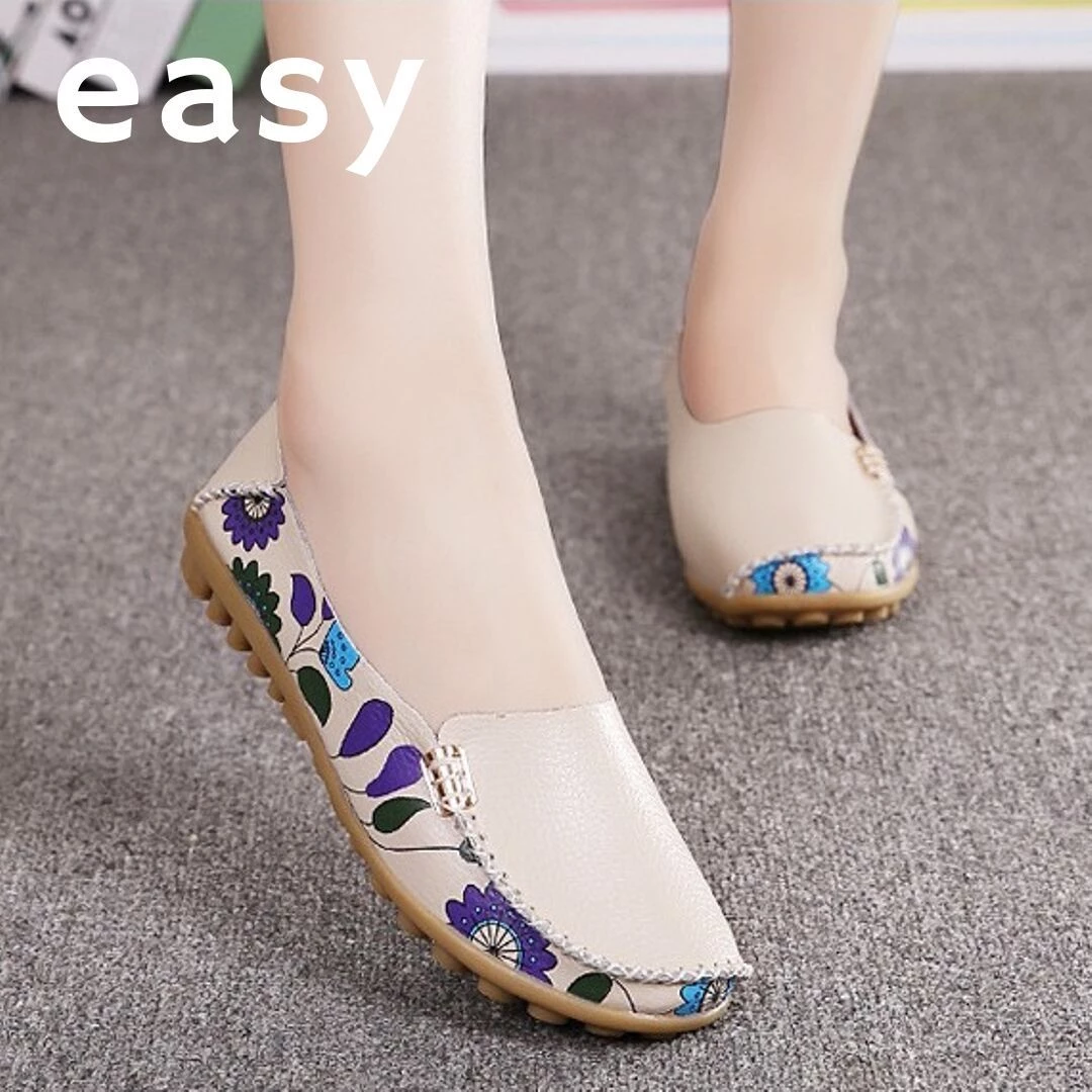 EASY Comfy Lightweight Floral Loafer