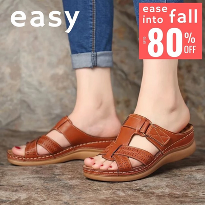 EASY Comfy Lightweight Leather Open Toe Sandal
