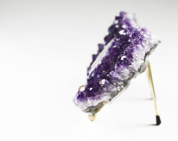Amethyst Crystal Cluster with Stalactite