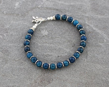 Load image into Gallery viewer, Apatite and Sterling Silver Bracelet