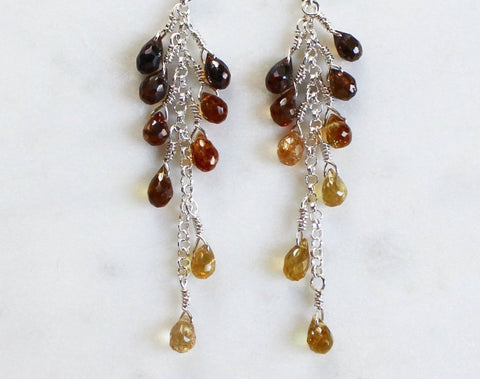Tourmaline Gemstone Earrings by Lindsey Silberman