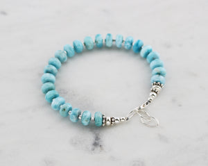 Larimar Beaded Bracelet