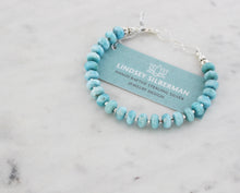 Load image into Gallery viewer, Larimar Beaded Bracelet