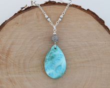 Load image into Gallery viewer, Larimar Pendant Necklace
