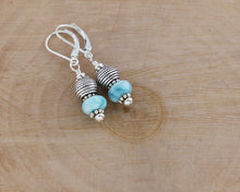 Load image into Gallery viewer, Larimar and Silver Earrings