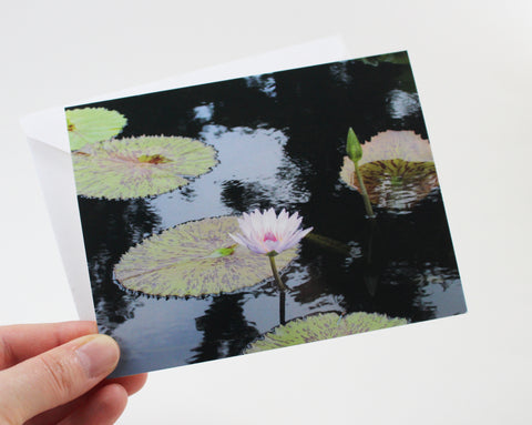 Water Lily Notecard - Single