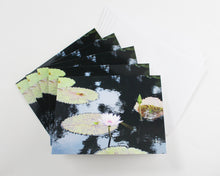 Load image into Gallery viewer, Water Lily Notecards - Set of Five