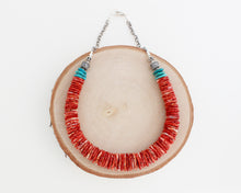 Load image into Gallery viewer, Spiny Oyster Shell and Turquoise Necklace