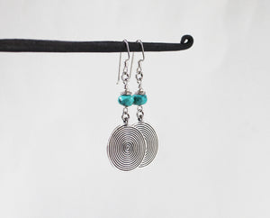 Thai Silver and Turquoise Earrings