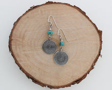 Load image into Gallery viewer, Thai Silver and Turquoise Earrings
