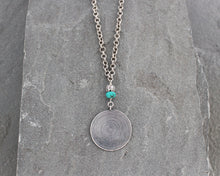 Load image into Gallery viewer, Thai Silver and Turquoise Necklace