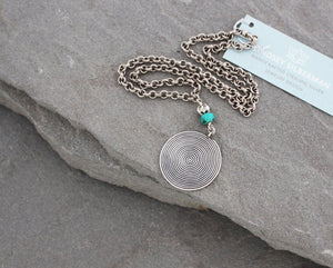 Thai Silver and Turquoise Necklace