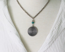 Load image into Gallery viewer, Thai Hill Tribe fine silver and turquoise necklace